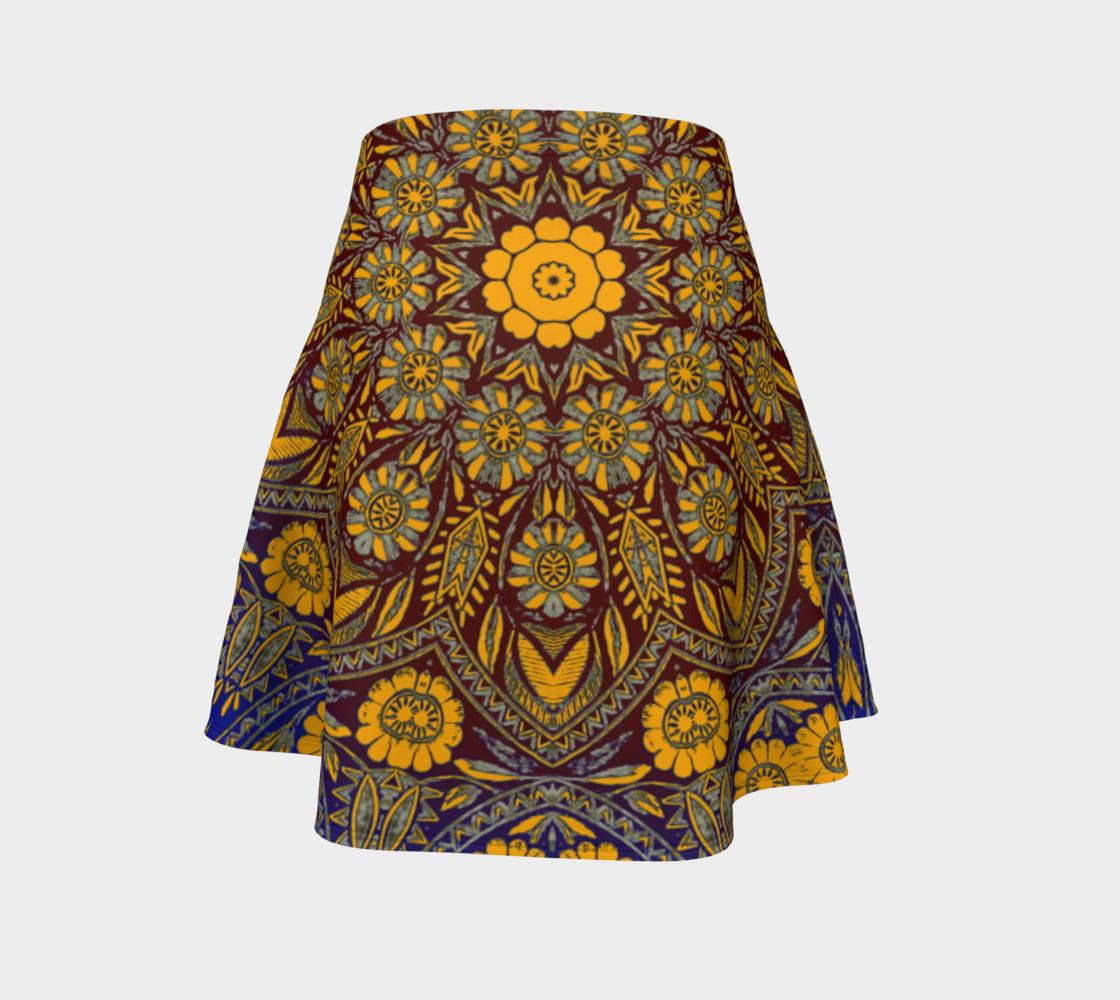 Vintage Morrocan Tile 327 Flare Skirt preview #4