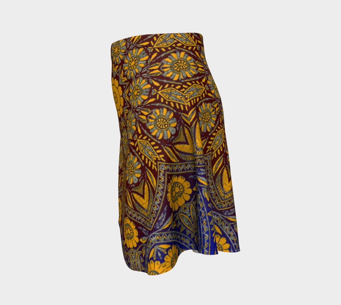 Vintage Morrocan Tile 327 Flare Skirt preview #2