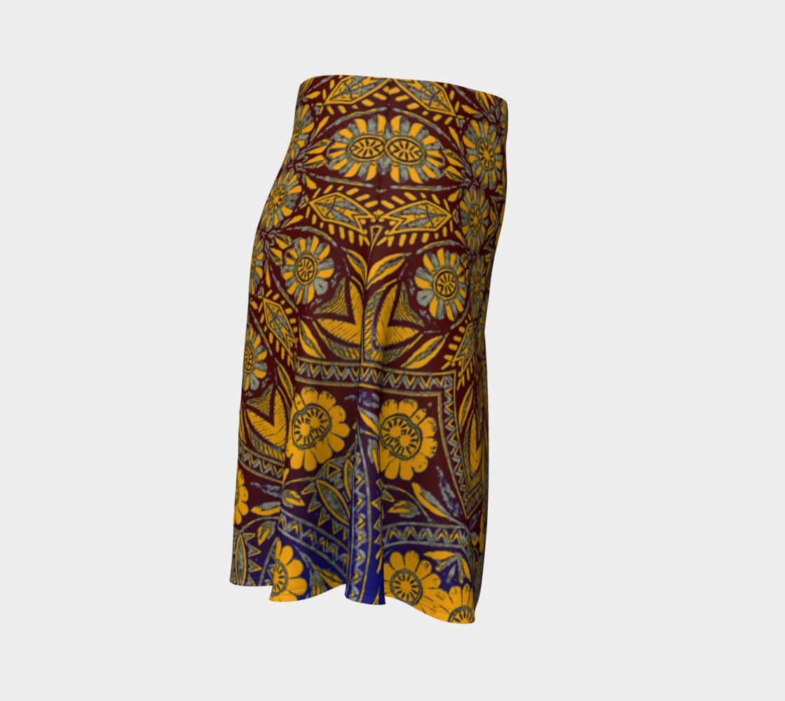 Vintage Morrocan Tile 327 Flare Skirt preview #3