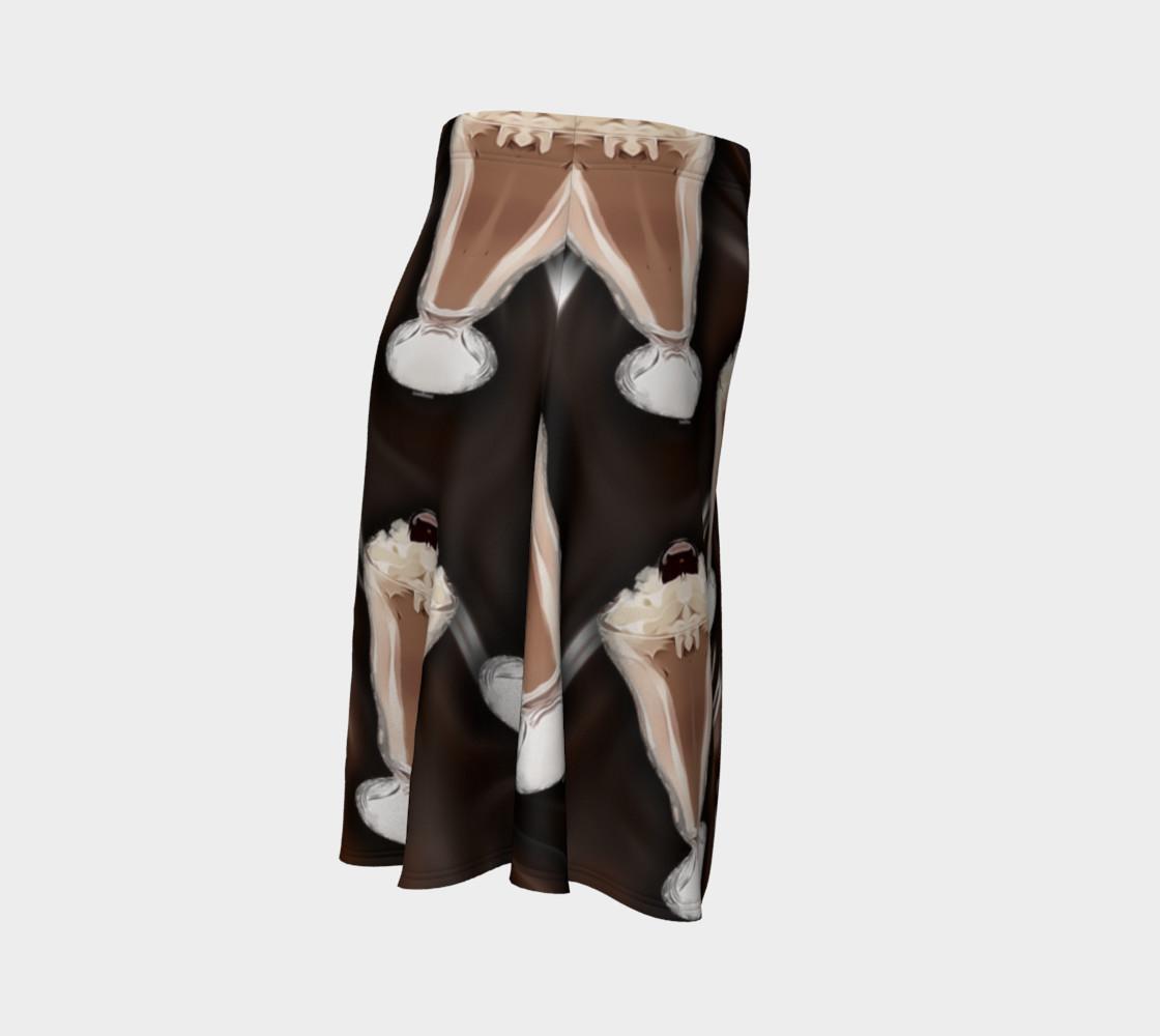 Chocolate Shake Flare Skirt preview #3