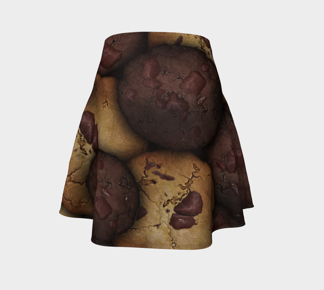 Chocolate Chip Cookies Flare Skirt preview #4