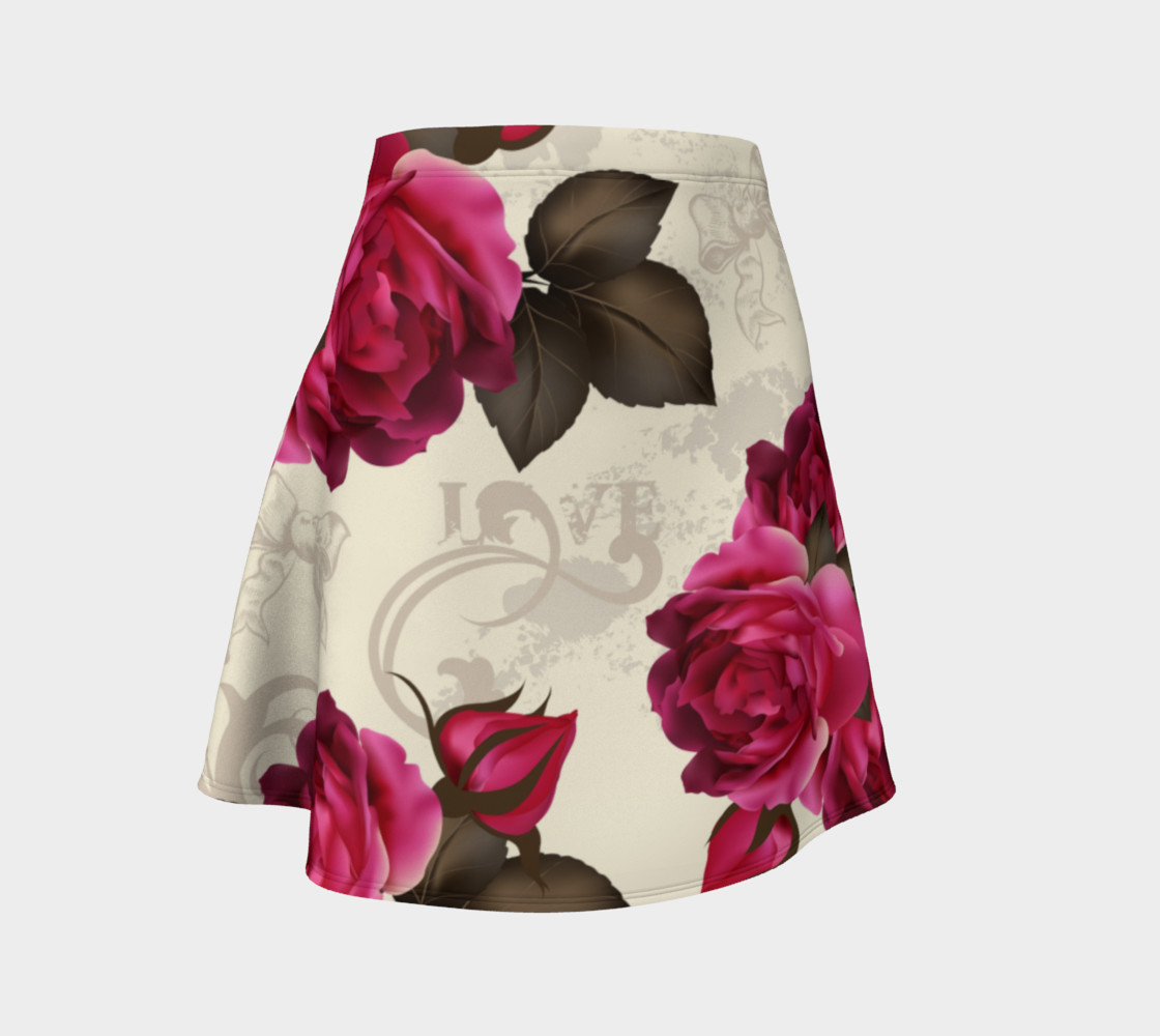 Aperçu de Shabby Chic - Deep Pink Roses #1
