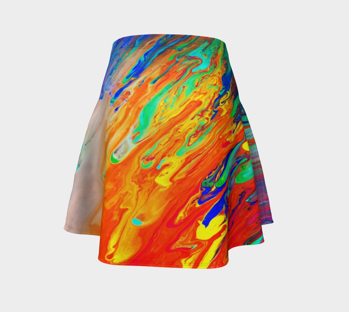 Aperçu de Abstract Flow Flare Skirt by GearX #4