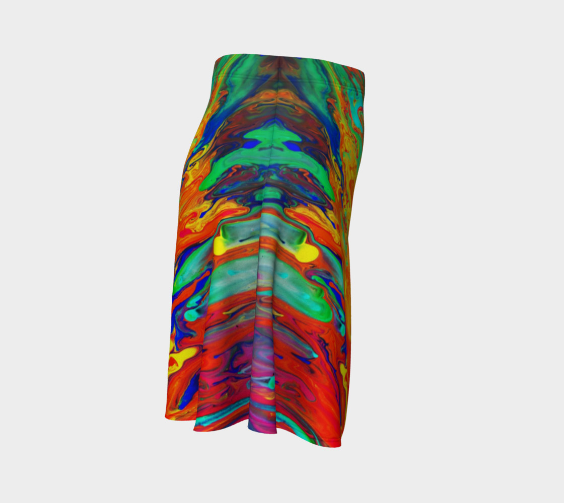 Aperçu de Abstract Flow Flare Skirt by GearX #3