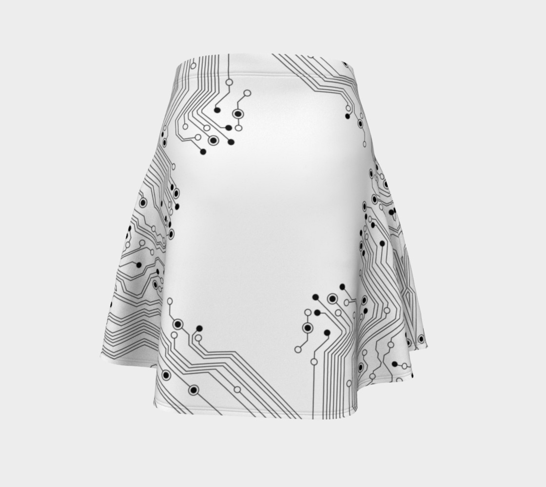 Circuit Board Flare Skirt by GearX preview #4
