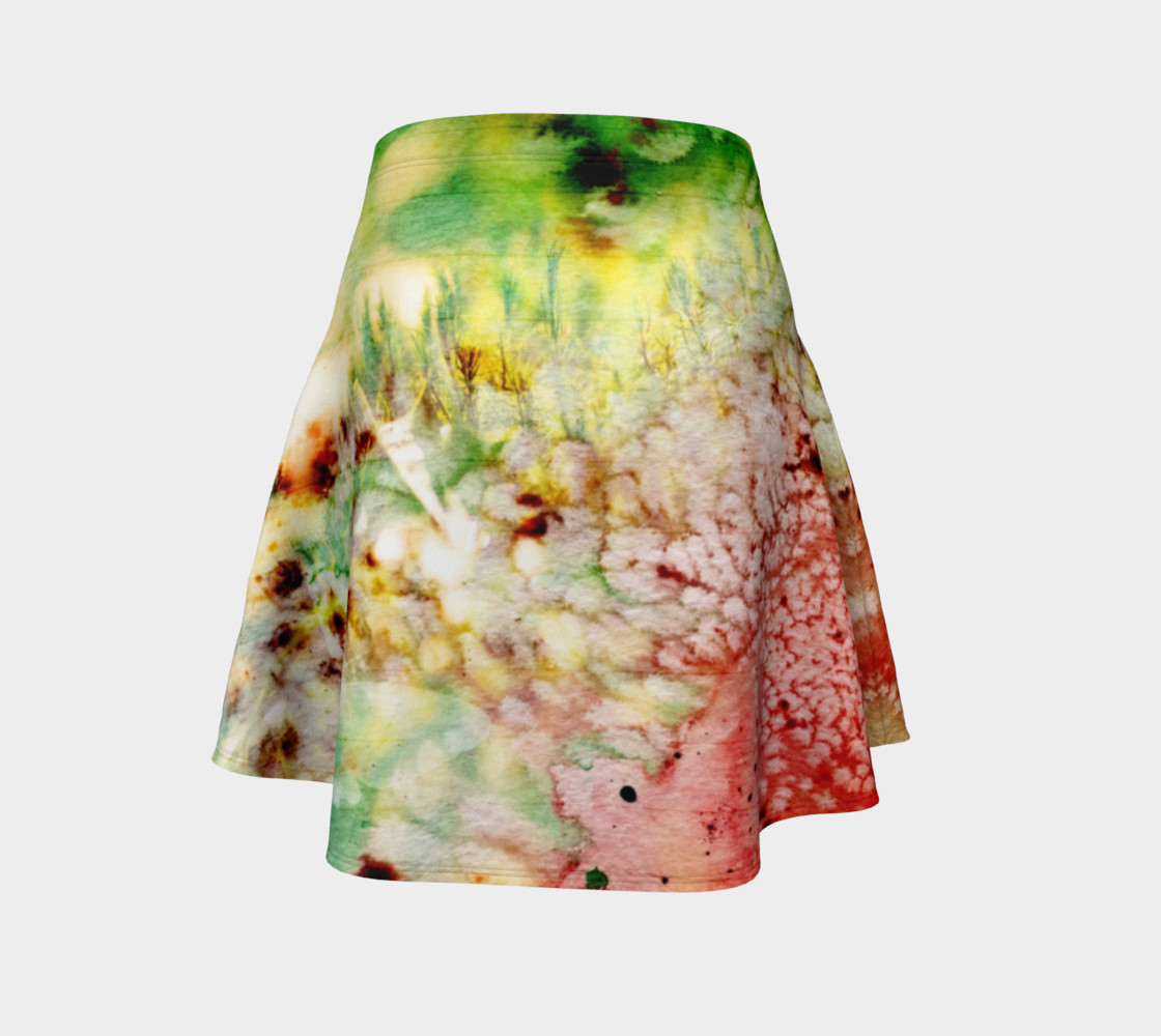 Watermelon Spin - Flare Skirt Miniature #5