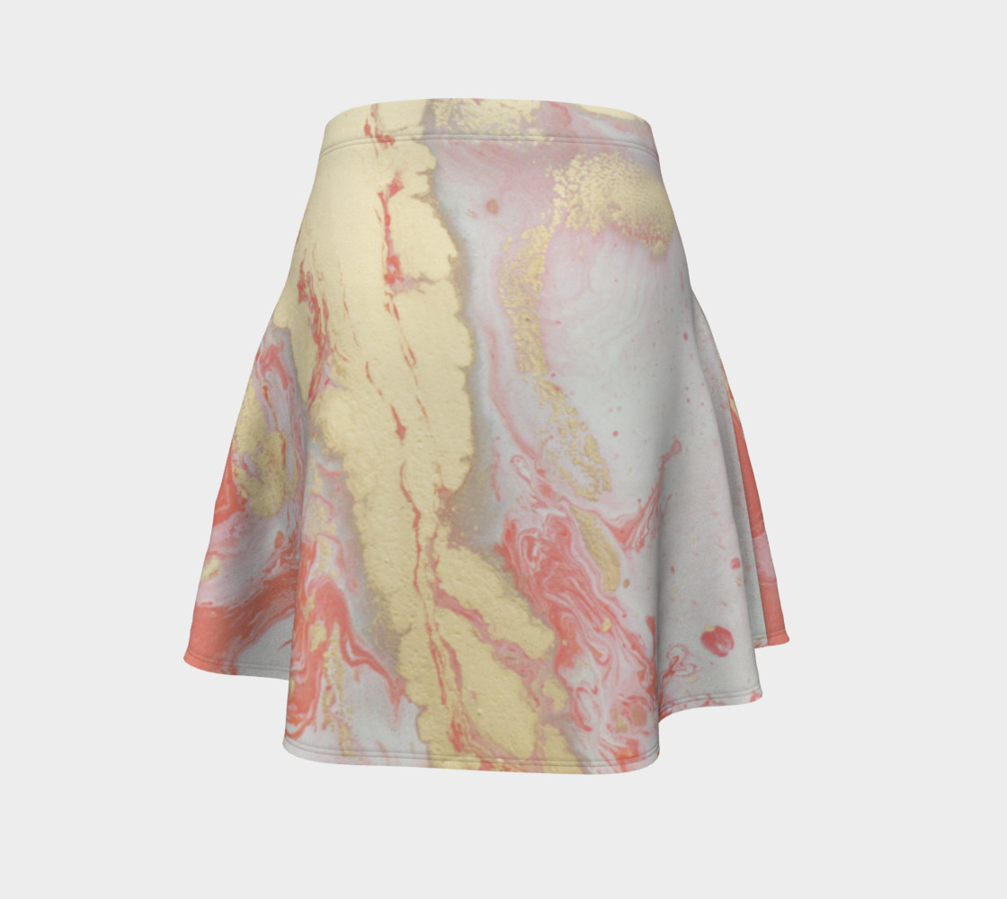 Coral Metallic Royalty Flare Skirt preview #4