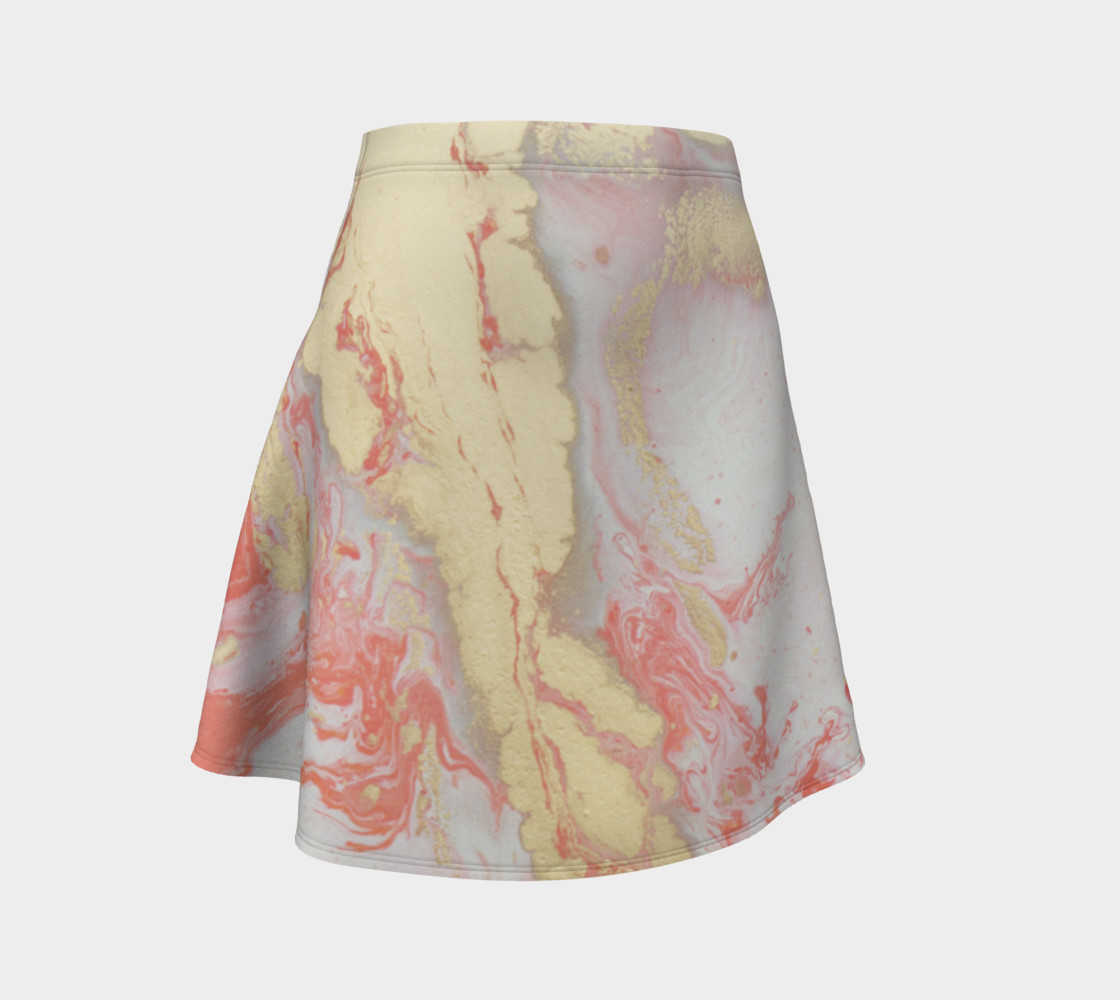 Coral Metallic Royalty Flare Skirt preview #1