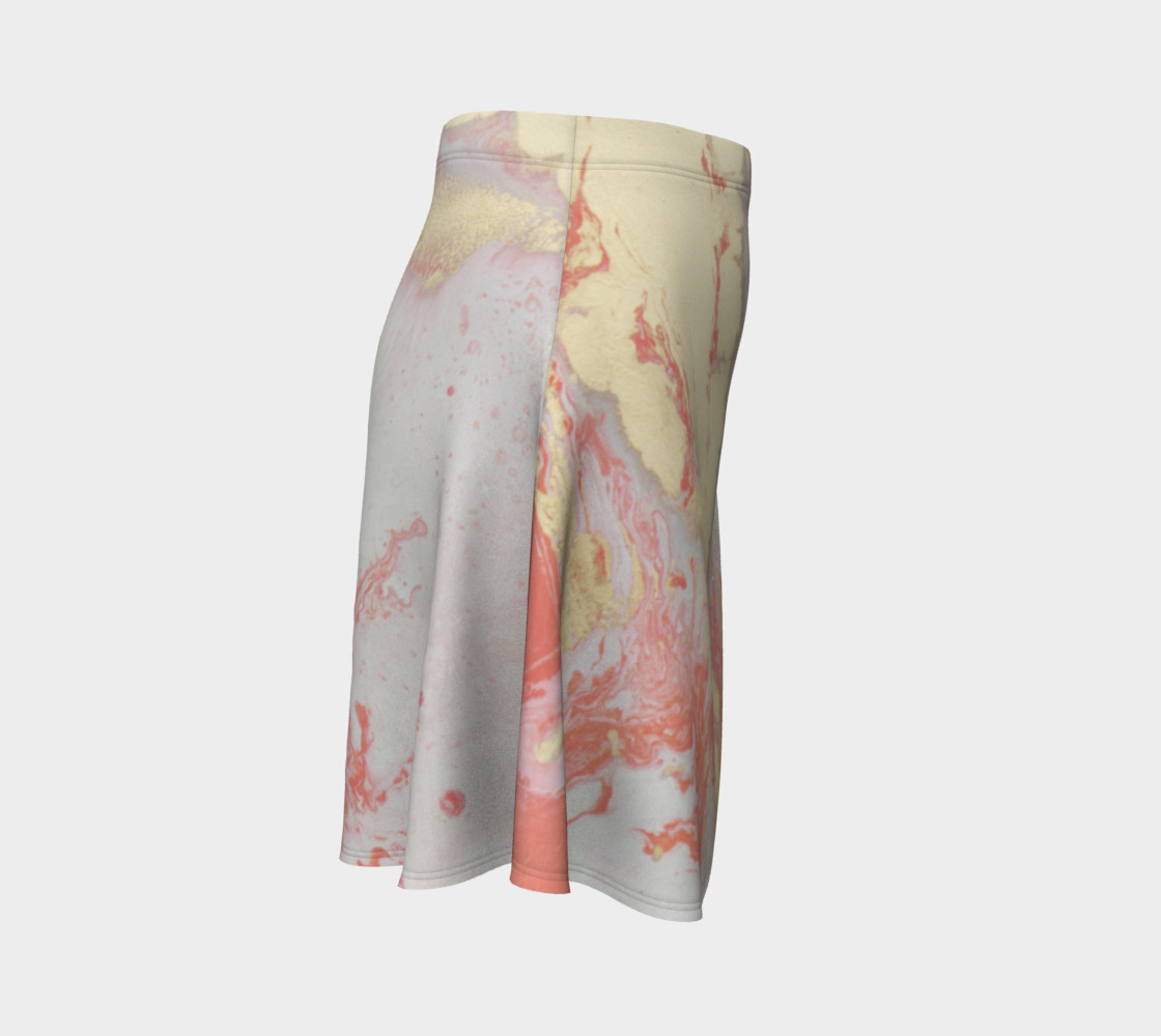 Coral Metallic Royalty Flare Skirt preview #3