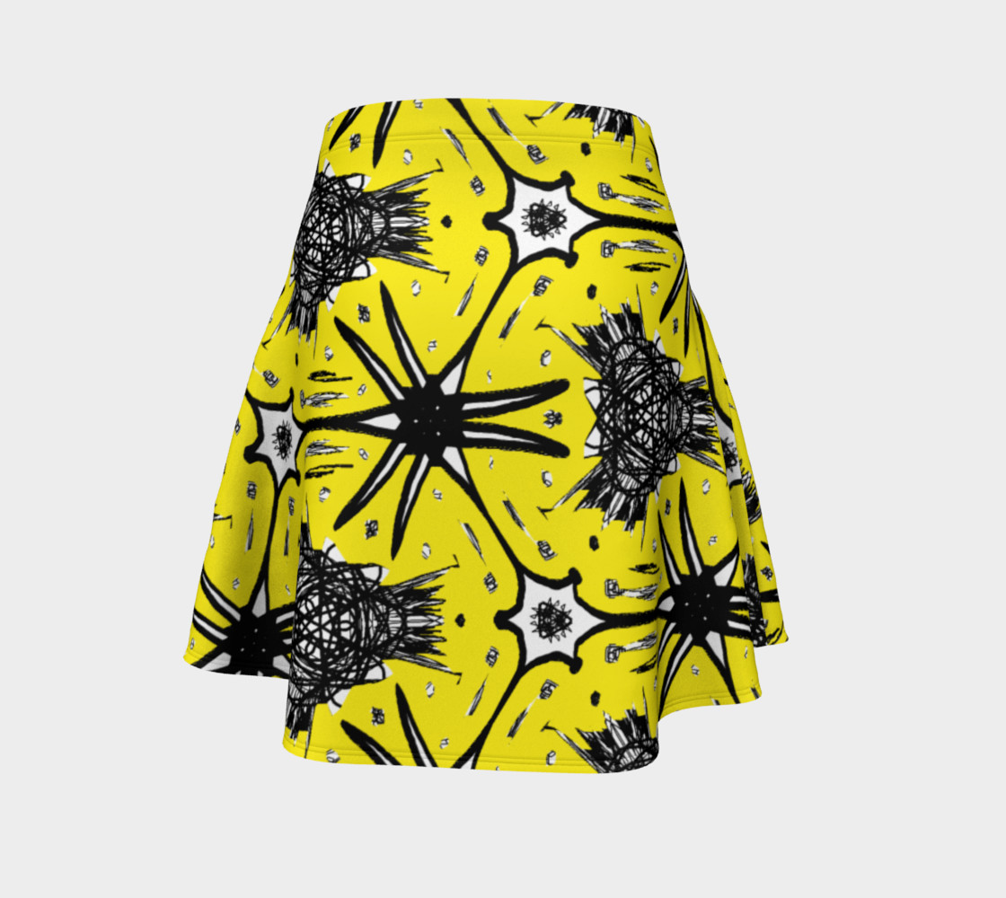 Aperçu de Moss Skirt with Abstract Yellow and Black #4