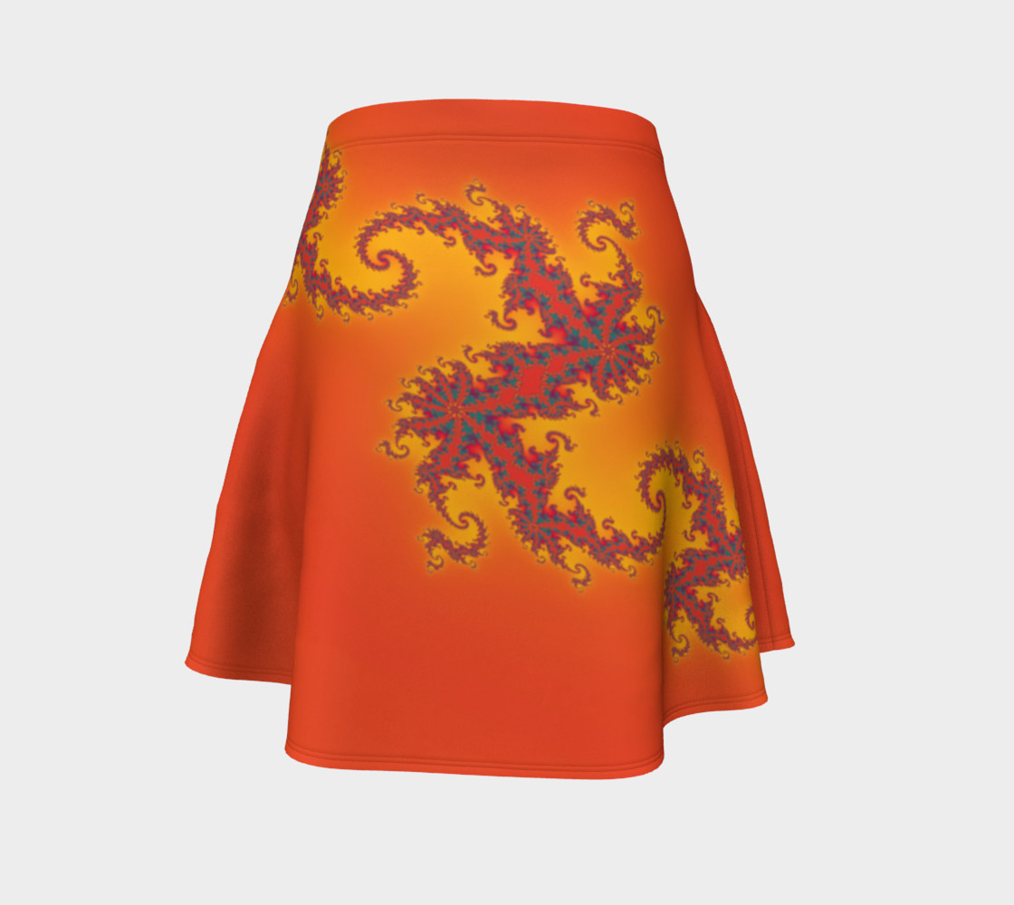Sunset Swirl Flare Skirt preview #4