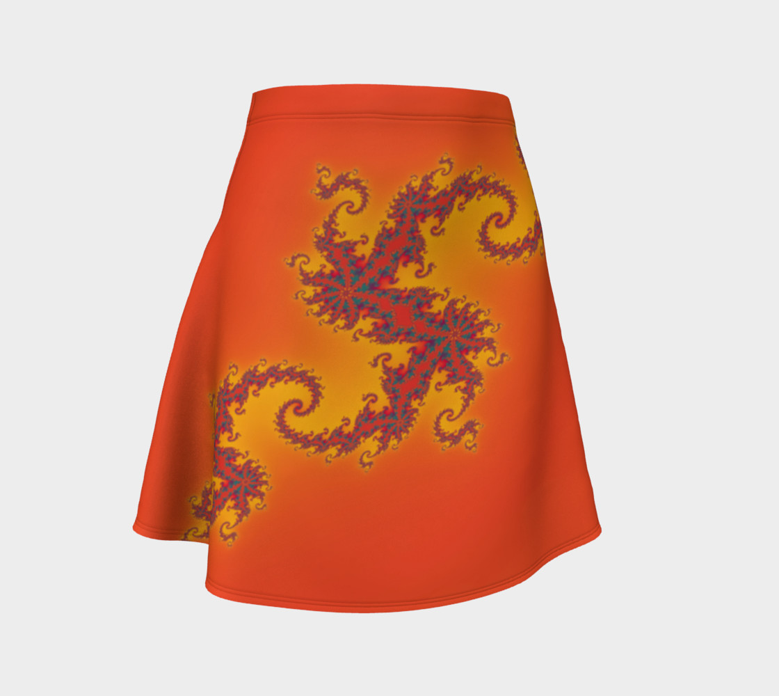 Sunset Swirl Flare Skirt preview #1