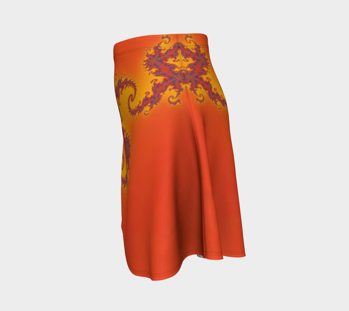 Sunset Swirl Flare Skirt preview #2