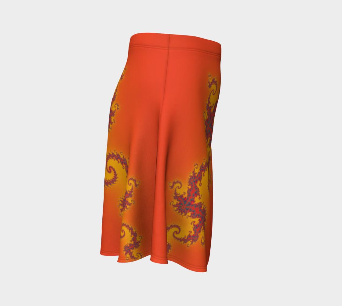 Sunset Swirl Flare Skirt preview #3