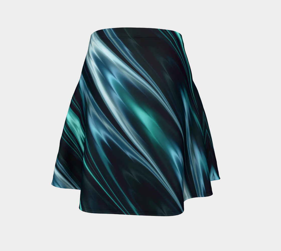 Turquoise Flare Skirt preview #4