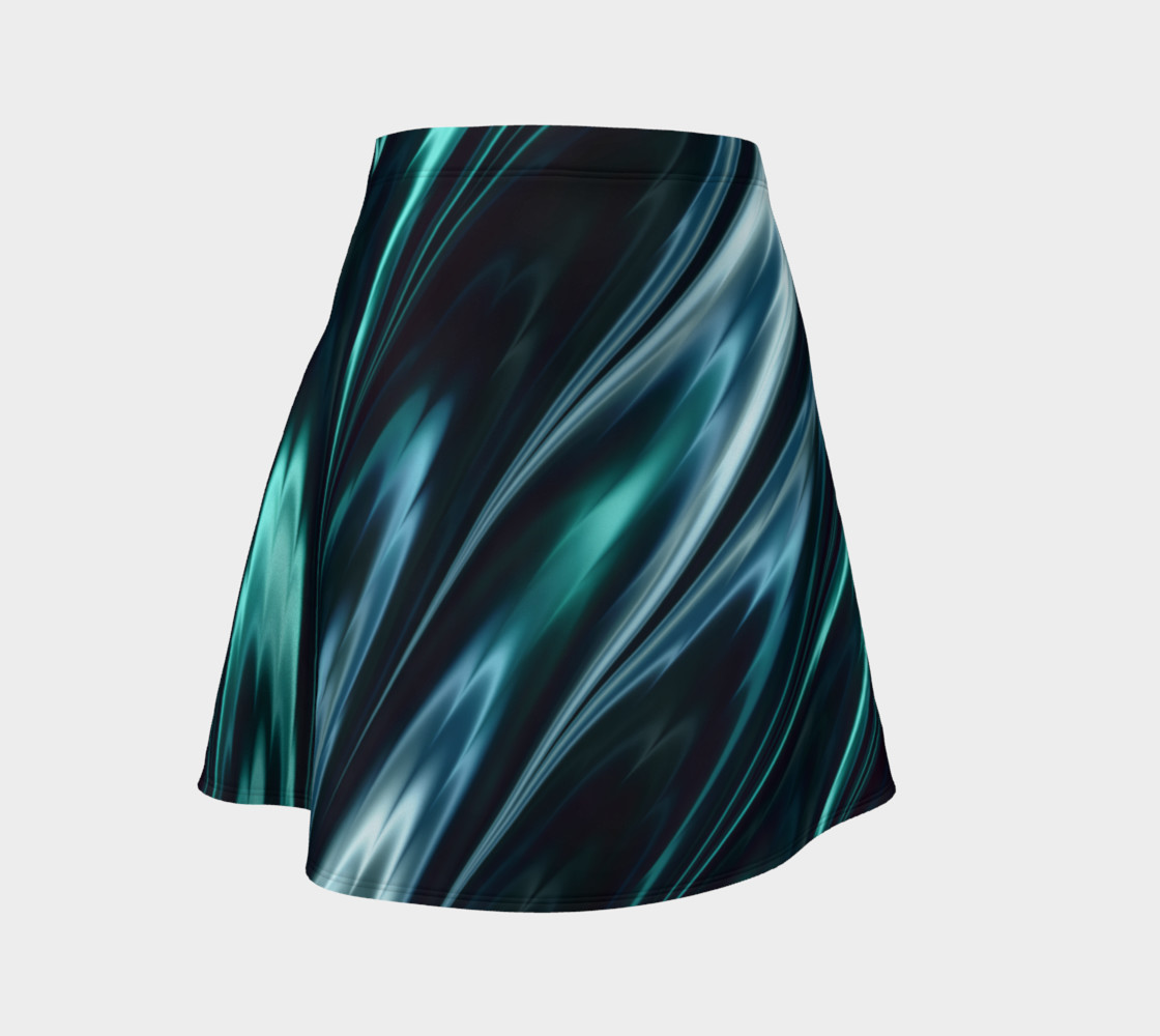 Turquoise Flare Skirt preview #1