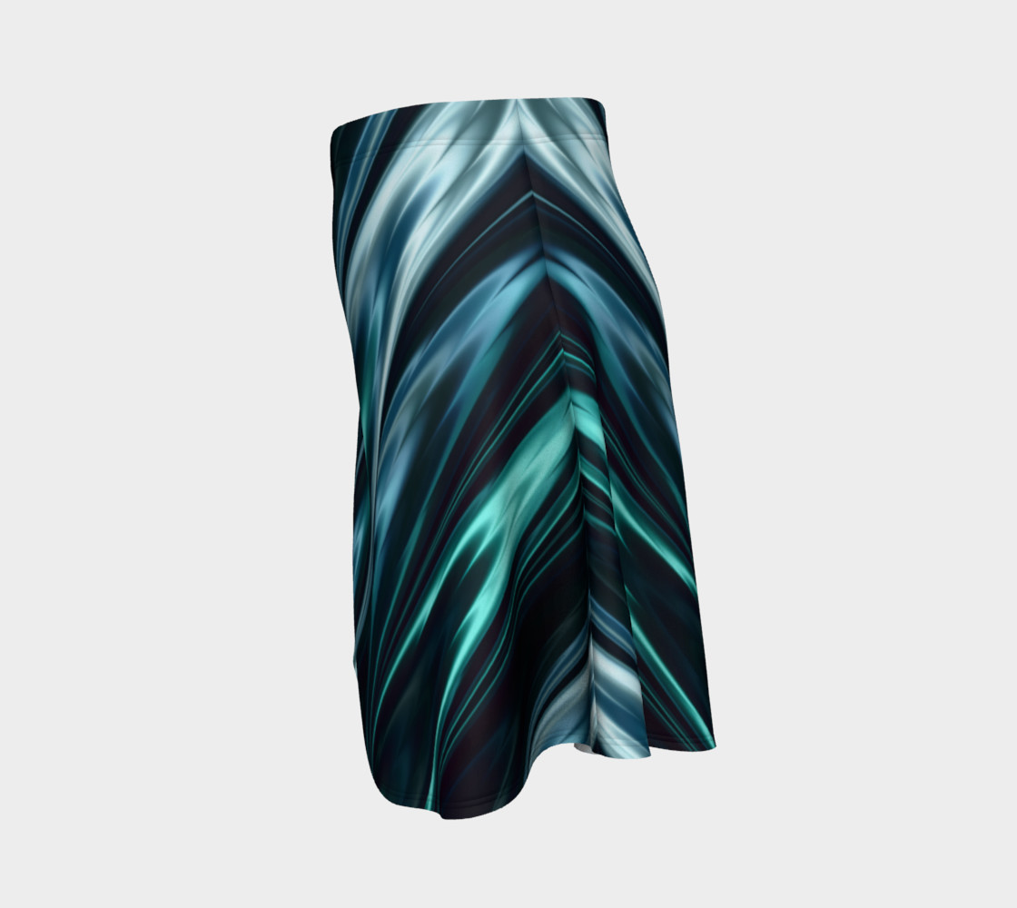 Turquoise Flare Skirt preview #2