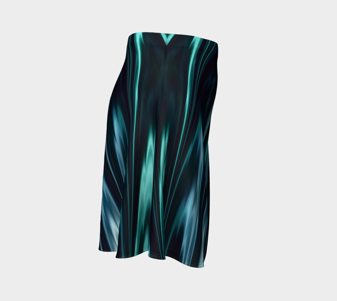 Turquoise Flare Skirt preview #3