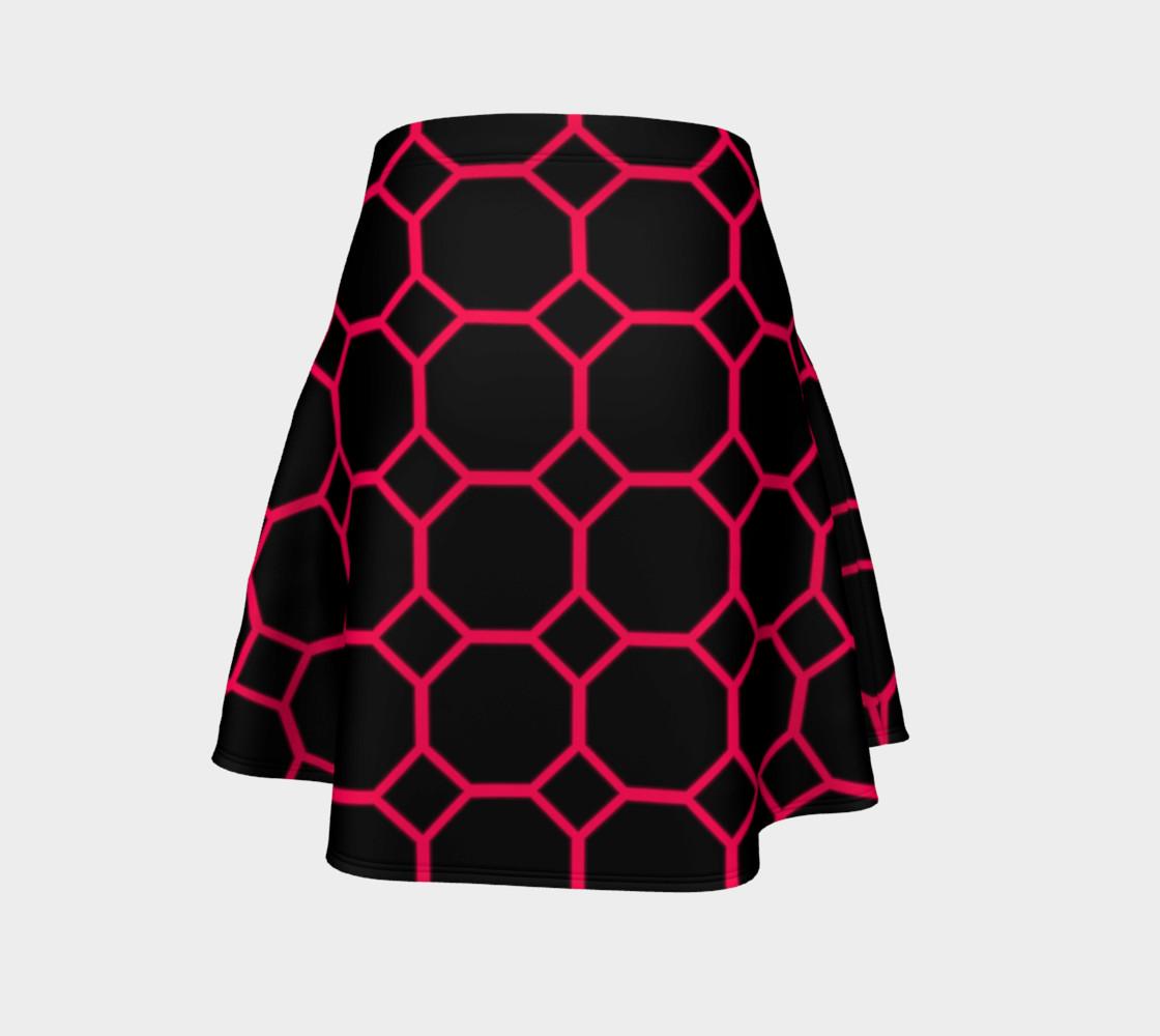 Aperçu de Hot Pink Honeycomb Flare Skirt #4