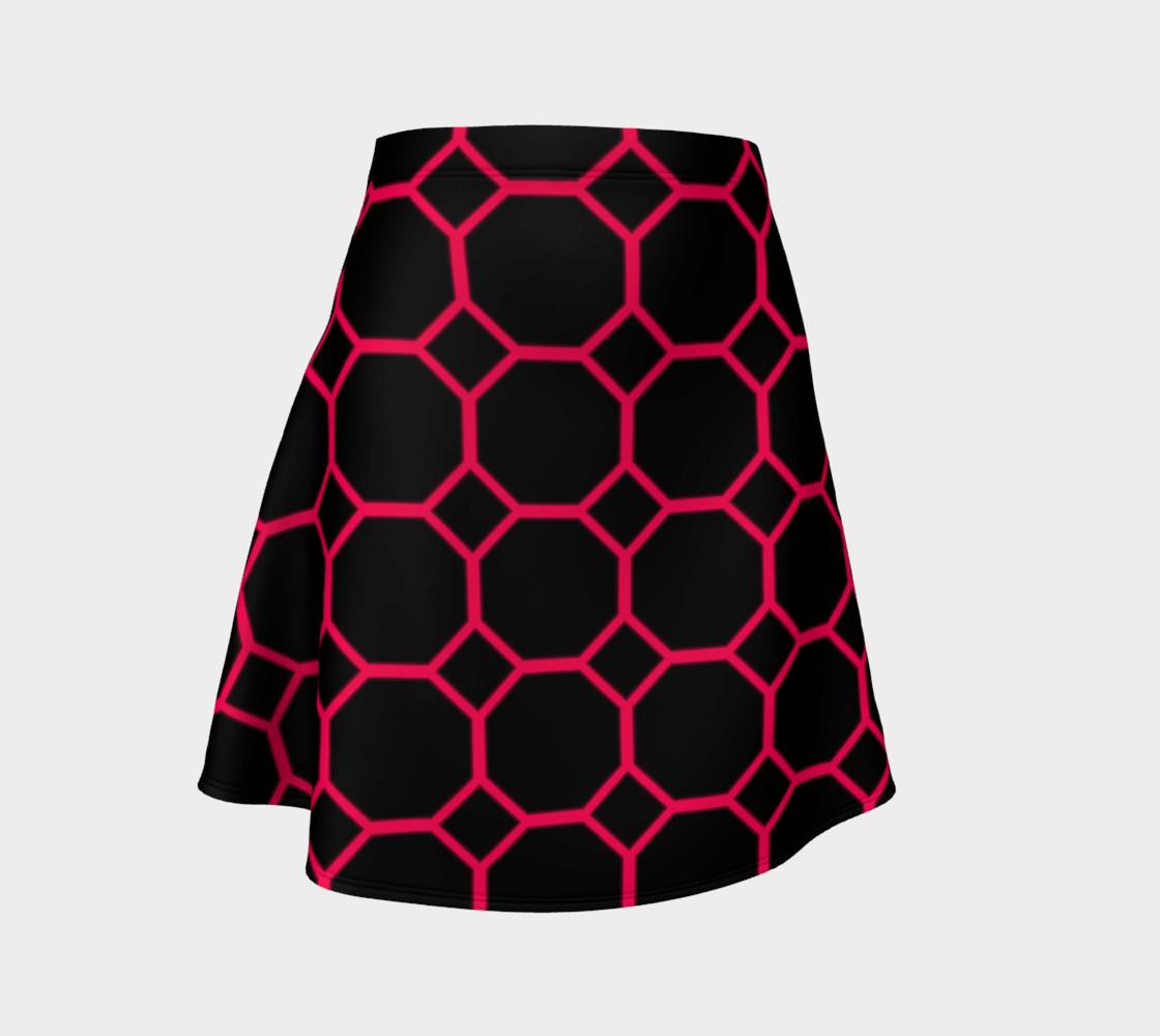Aperçu de Hot Pink Honeycomb Flare Skirt #1