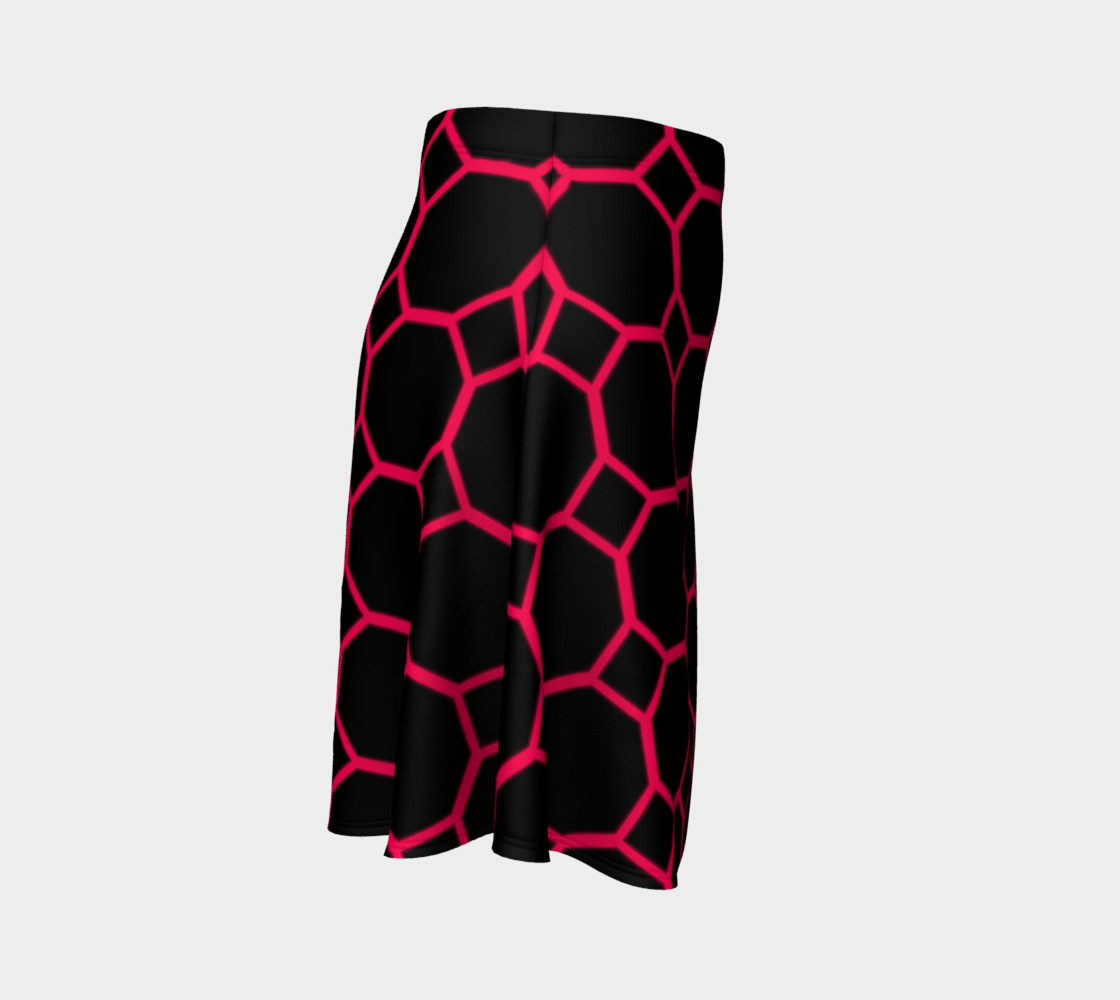 Aperçu de Hot Pink Honeycomb Flare Skirt #3