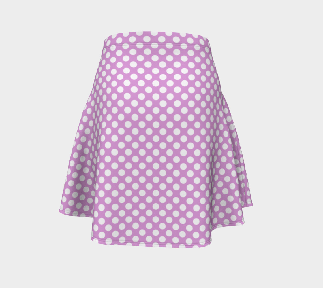 Polka Dots Pattern-Violet Flare Skirt preview #4