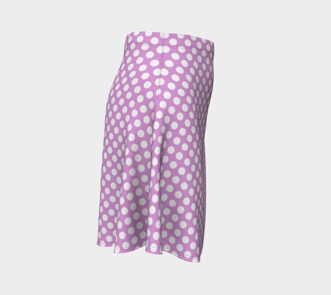 Polka Dots Pattern-Violet Flare Skirt preview #3