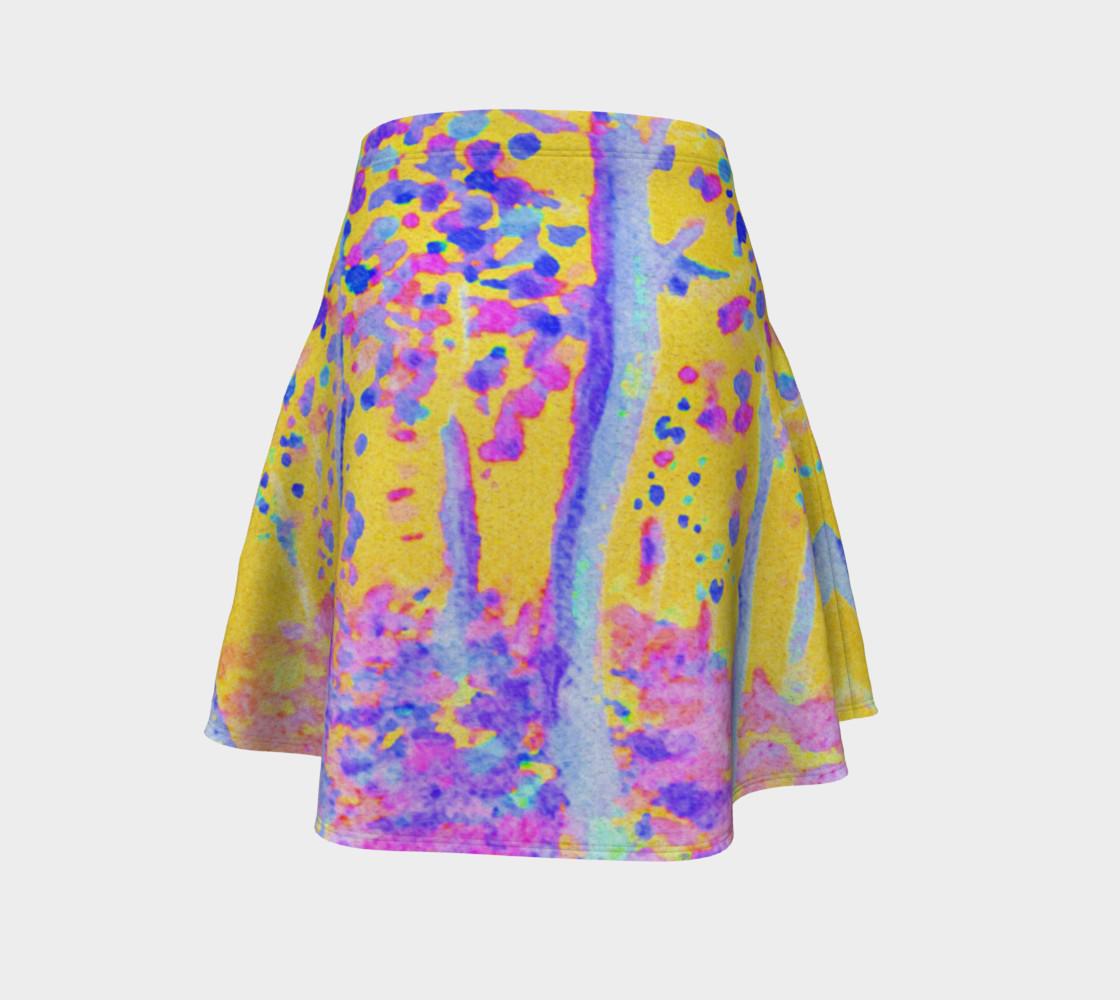 Aperçu de Yellow Magic Trees Flare Skirt #4