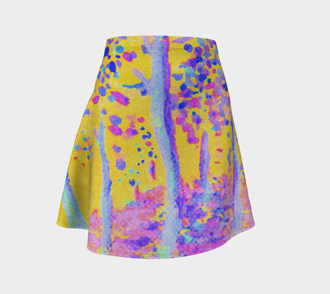 Aperçu de Yellow Magic Trees Flare Skirt #1