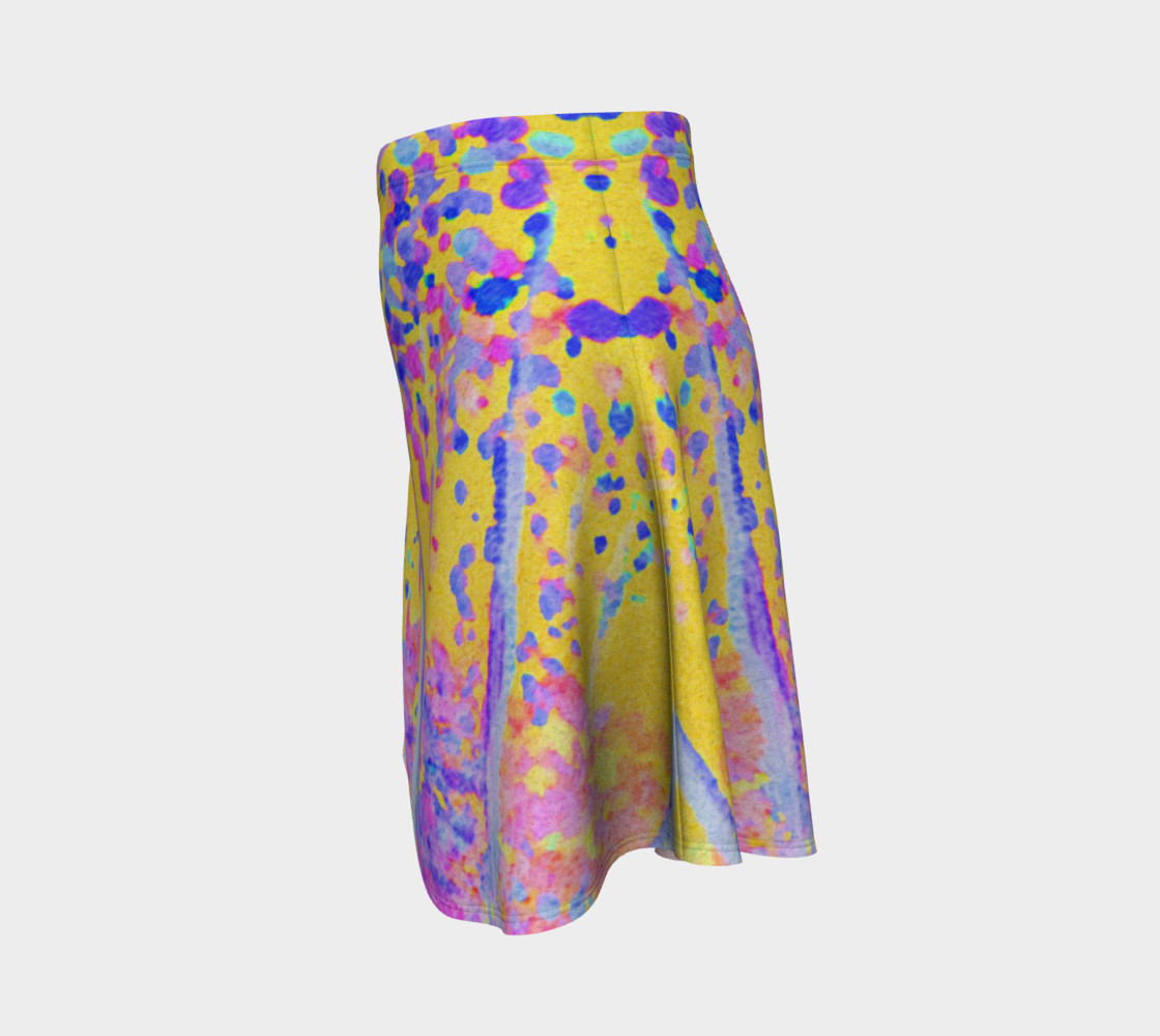 Yellow Magic Trees Flare Skirt preview #2