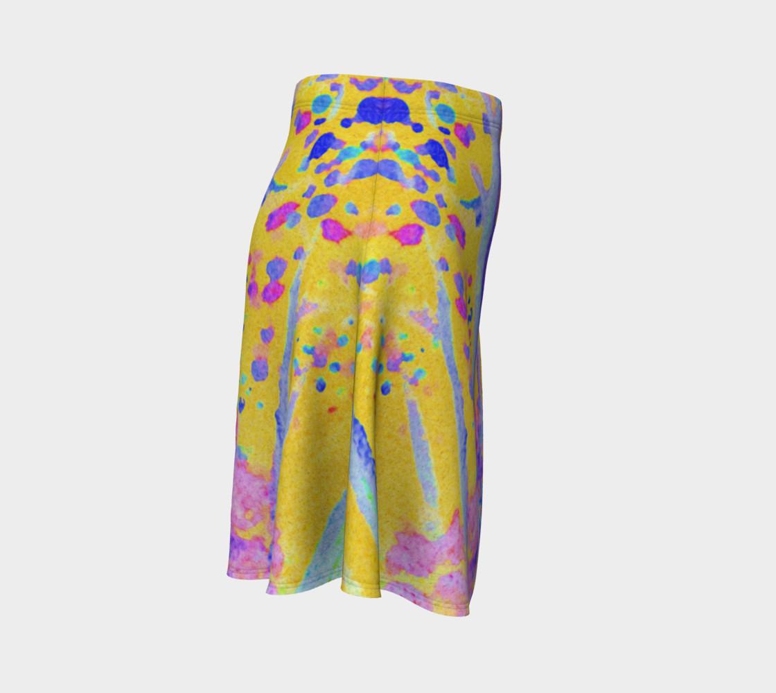 Aperçu de Yellow Magic Trees Flare Skirt #3