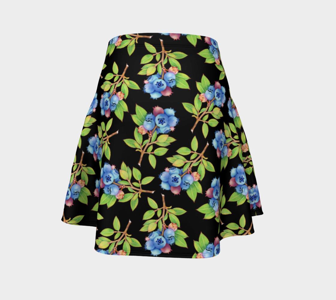 Aperçu de Blueberry Sprig Flare Skirt #4