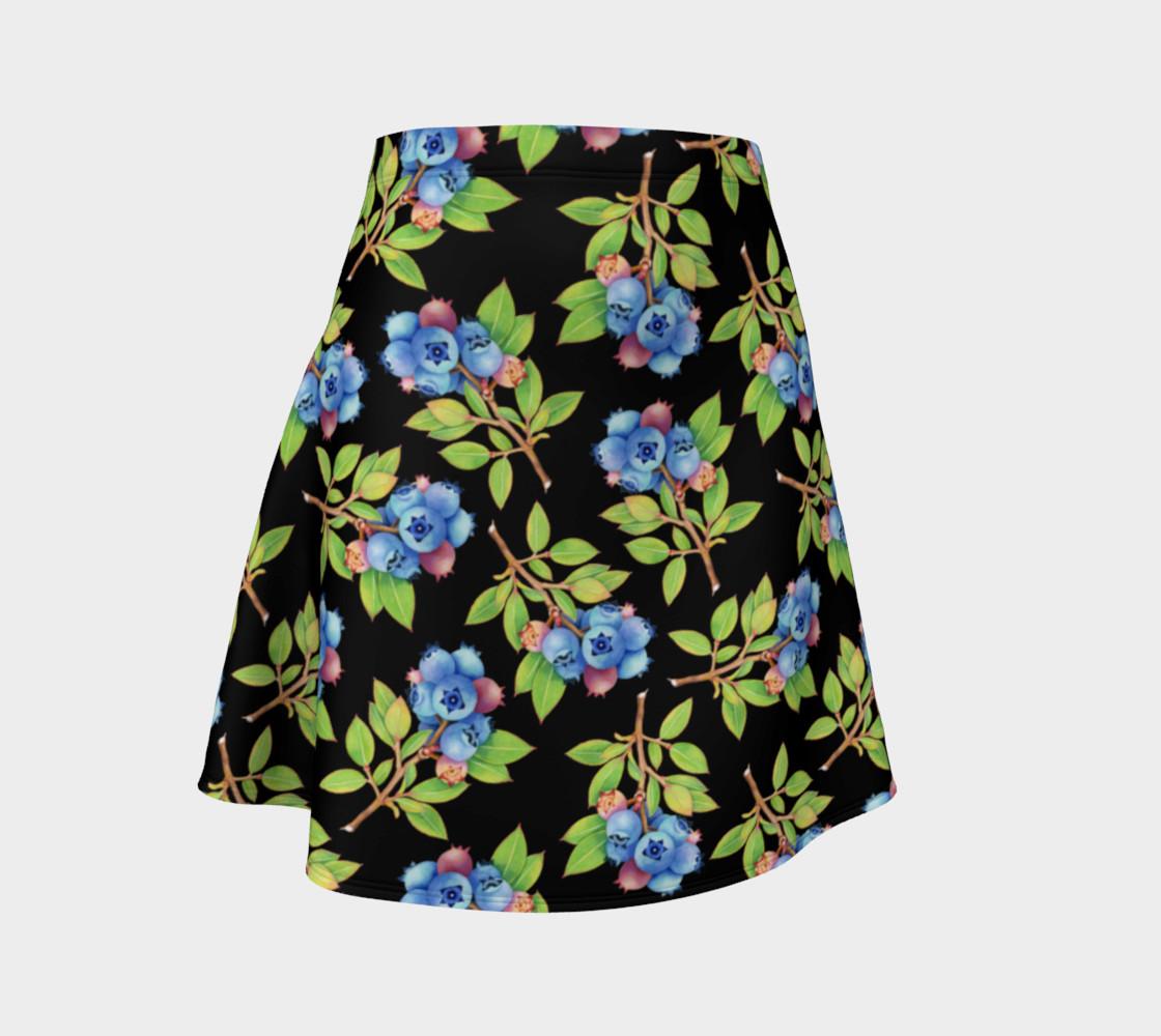 Aperçu de Blueberry Sprig Flare Skirt #1