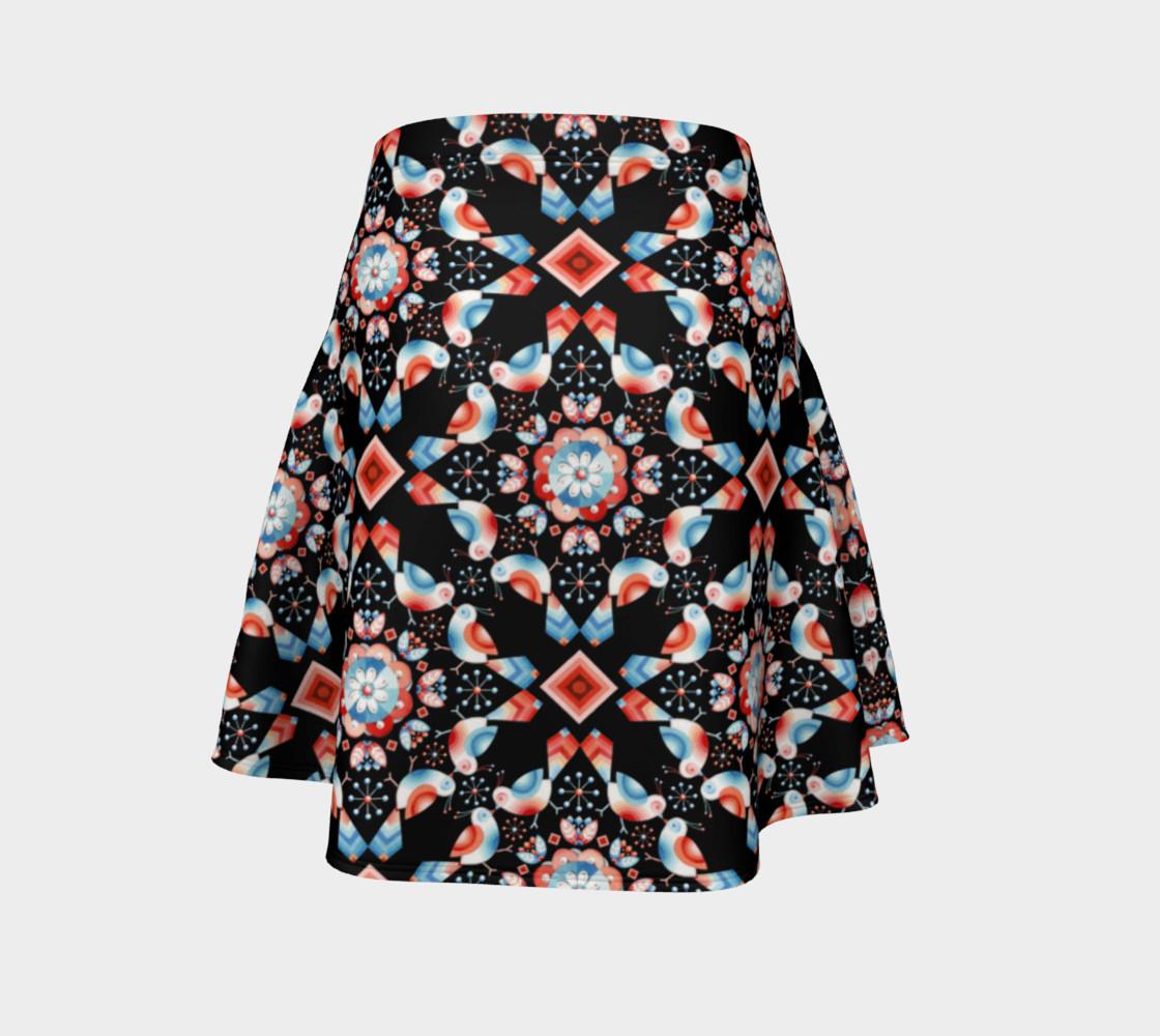 Folkloric Lovebirds Flare Skirt preview #4