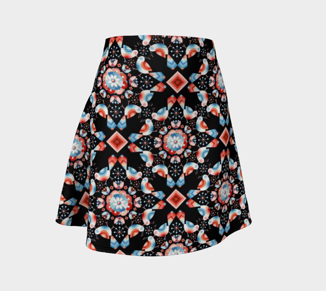 Folkloric Lovebirds Flare Skirt preview #1