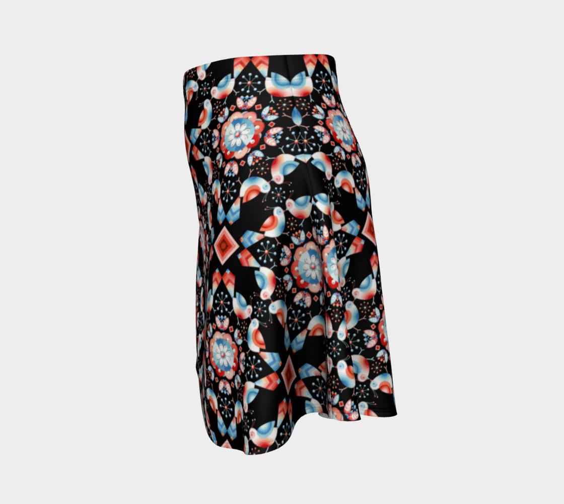 Folkloric Lovebirds Flare Skirt preview #2