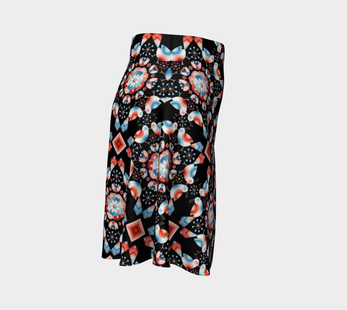 Folkloric Lovebirds Flare Skirt preview #3