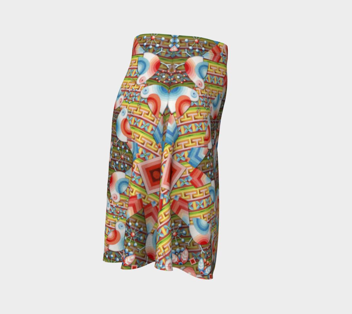 Heraldic Lovebird Flare Skirt preview #3