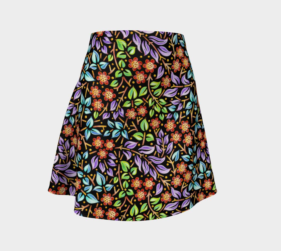 Filigree Floral Flare Skirt (smaller print) preview #1
