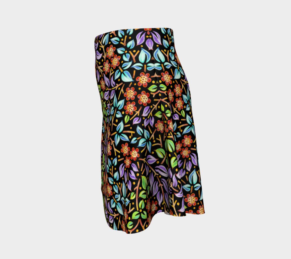 Filigree Floral Flare Skirt (smaller print) preview #2