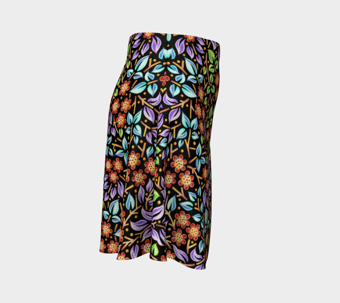 Filigree Floral Flare Skirt (smaller print) preview #3