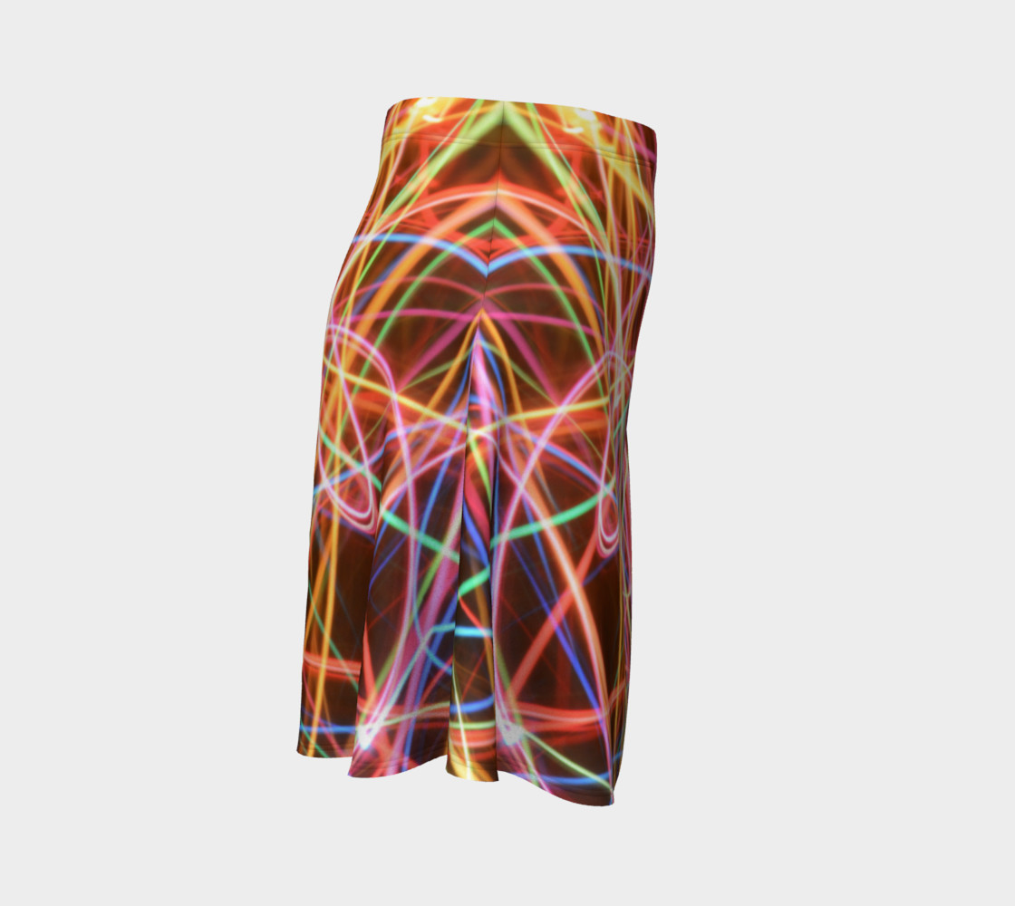 Christmas Light Trails Flare Skirt preview #3