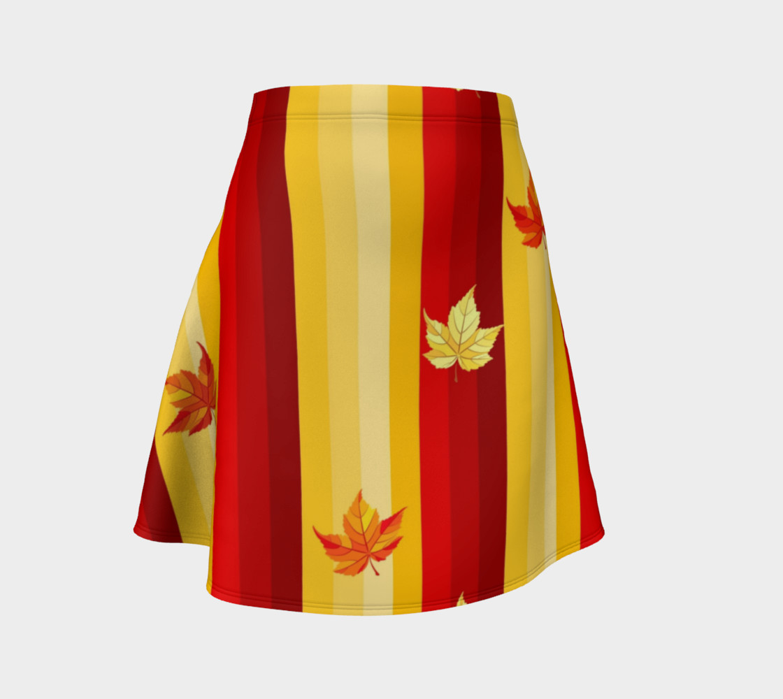 autumn leaves and stripes preview #1