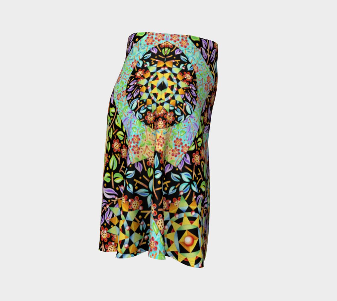 Aperçu de Filigree Floral Patchwork Flare Skirt 2 #3