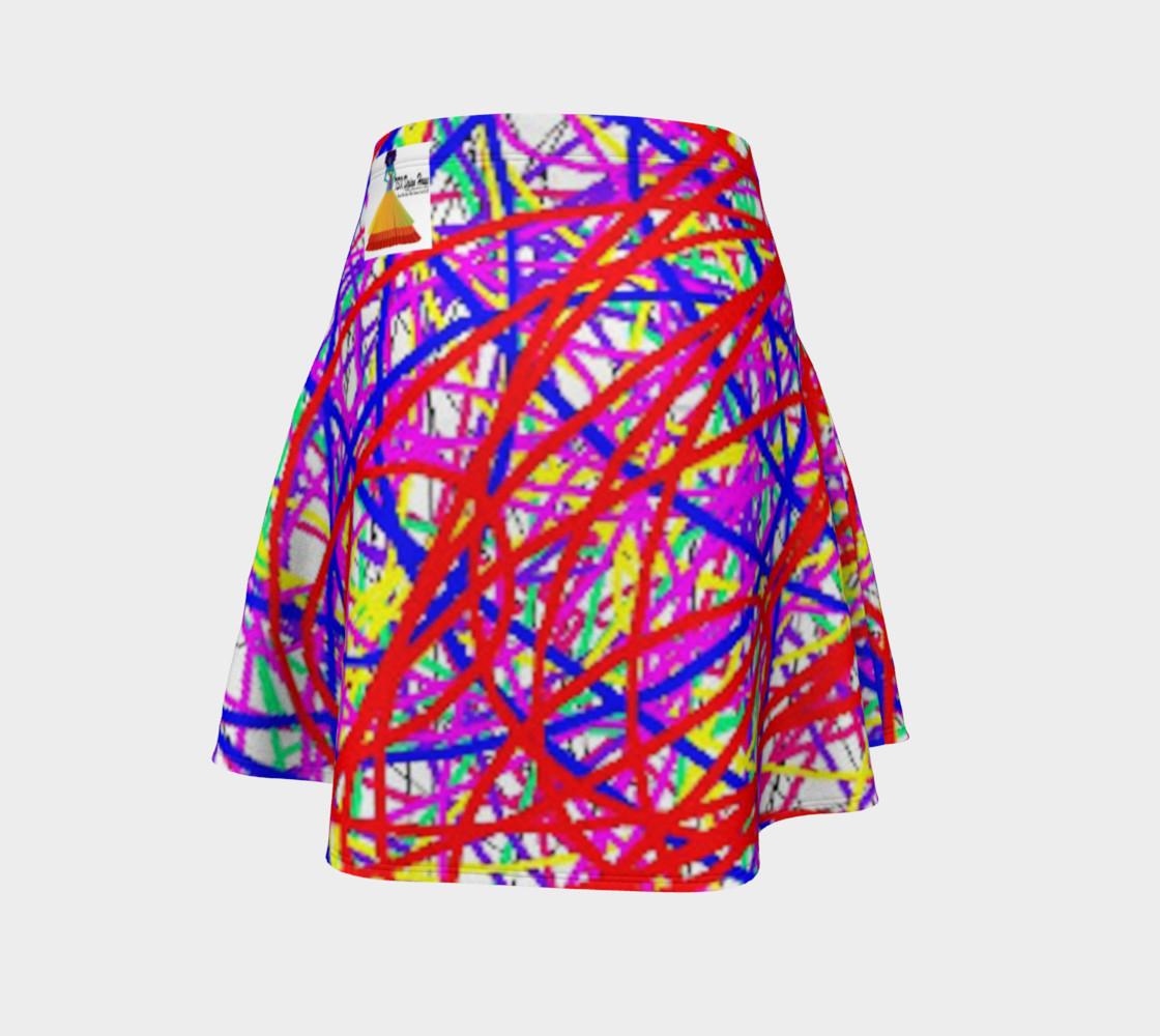 Aperçu de Energy Of Life In Color Flare Skirt #4