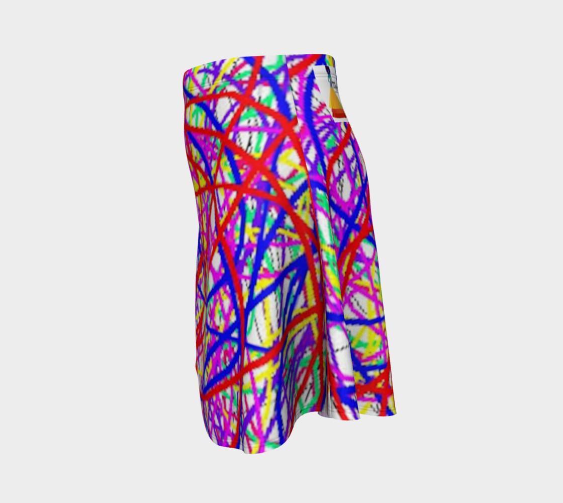 Aperçu de Energy Of Life In Color Flare Skirt #2
