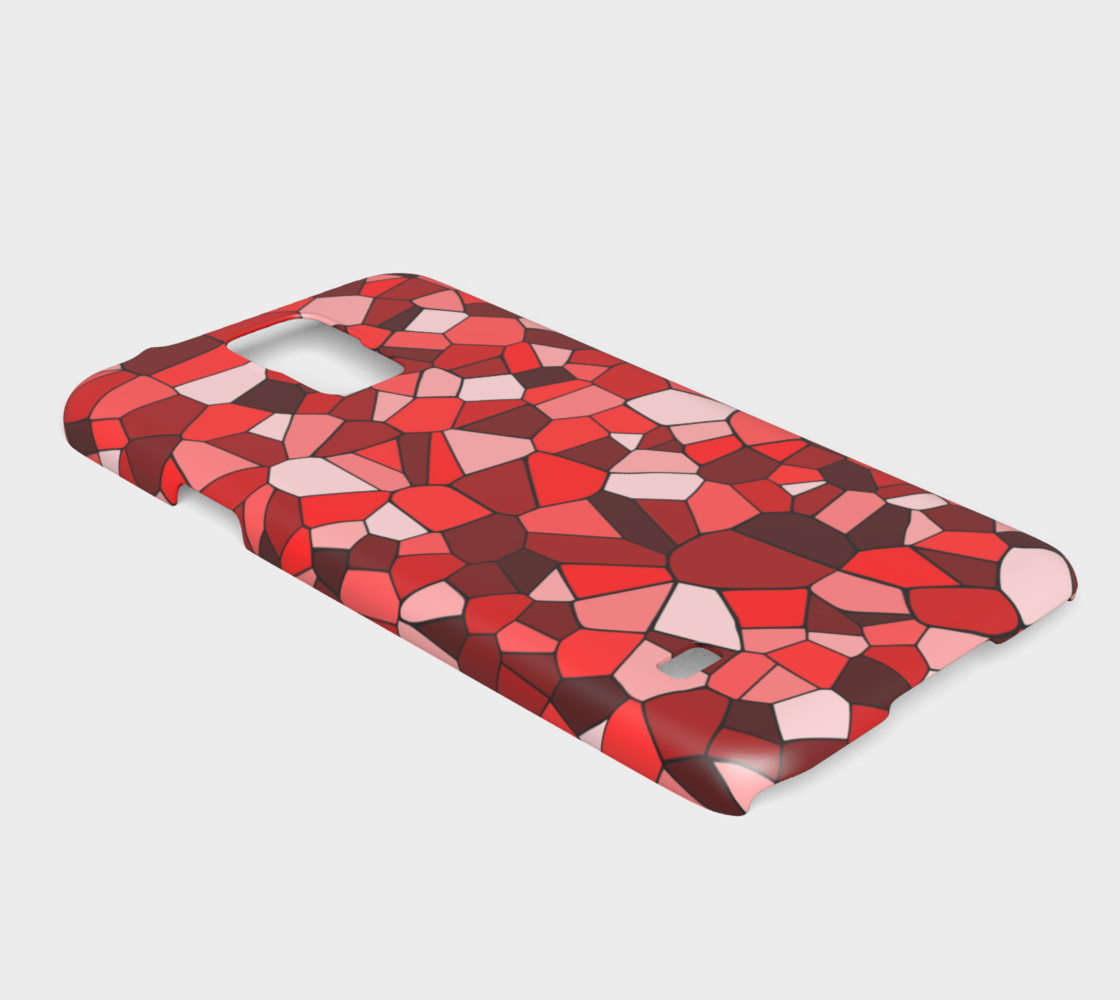Red Monochrome Geometric Mosaic Pattern preview #2