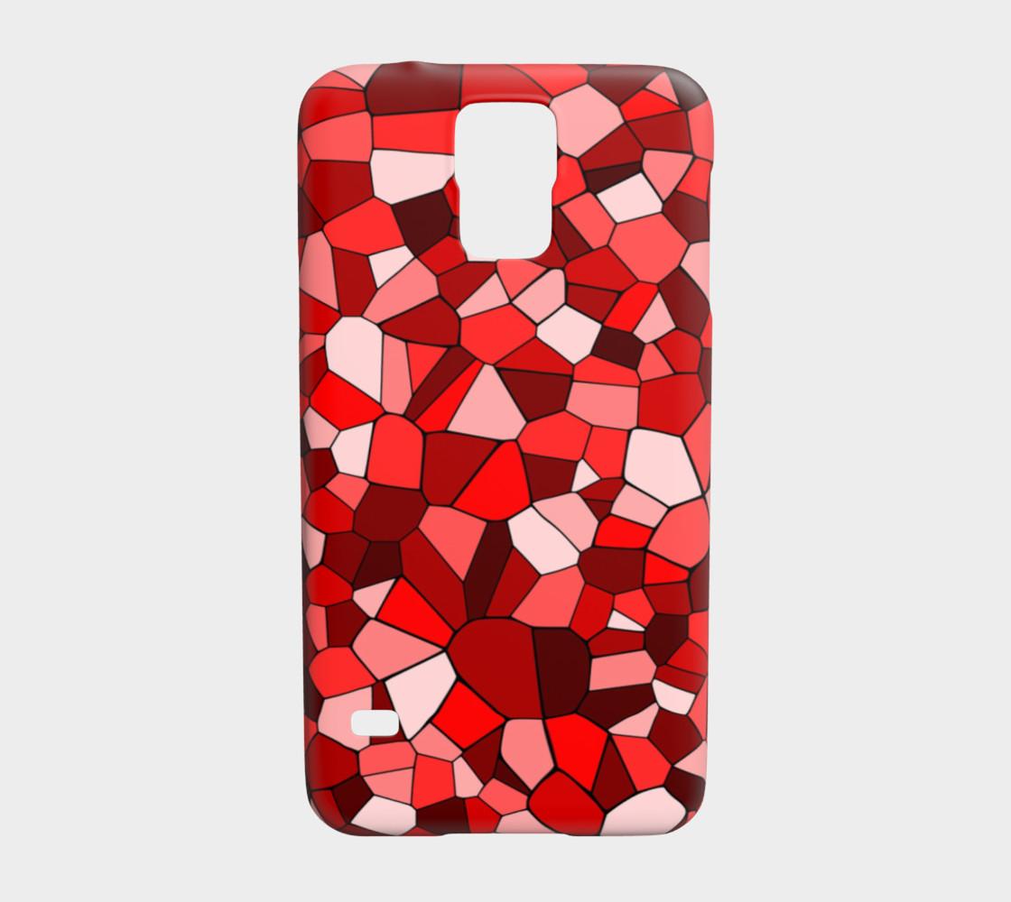 Red Monochrome Geometric Mosaic Pattern preview #1
