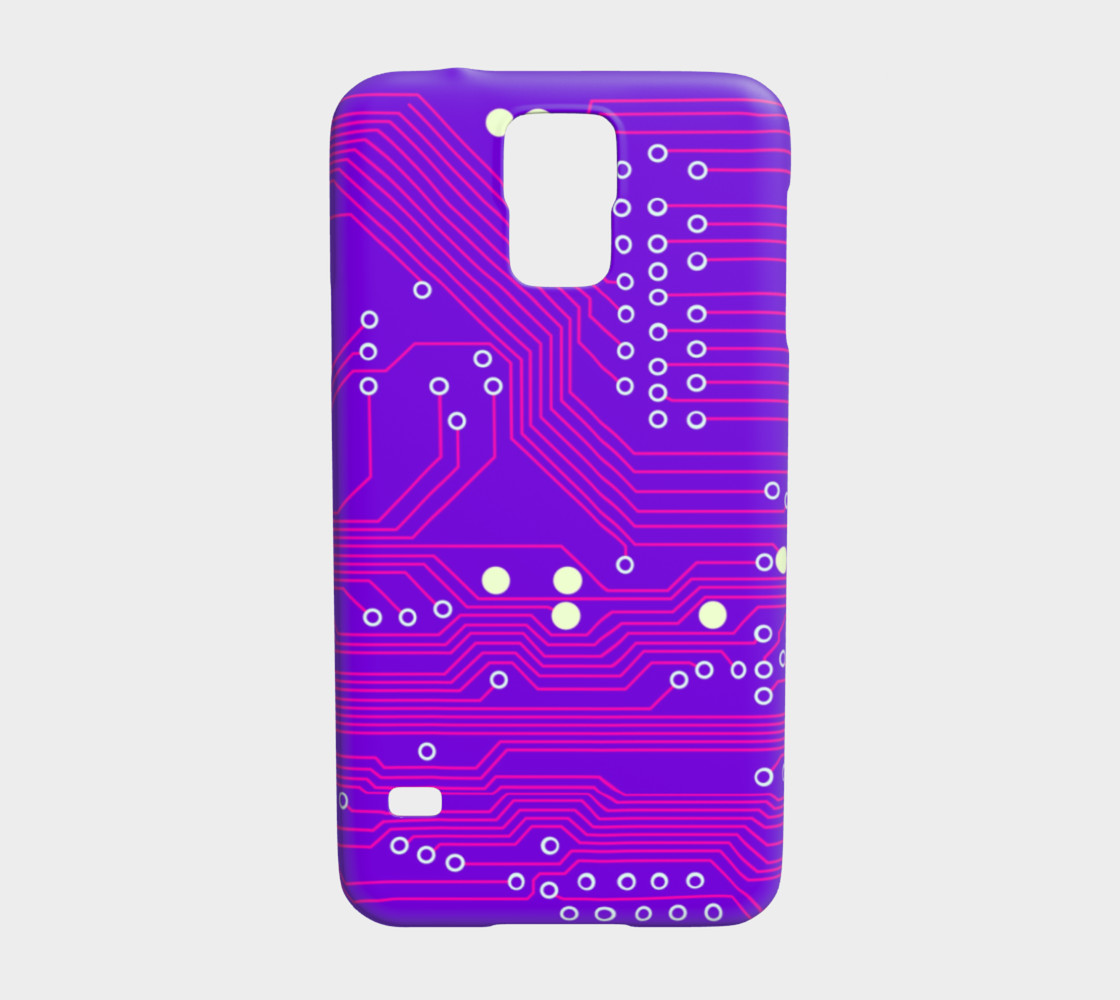 Pink Circuit Board - Galaxy s5 case Miniature #2