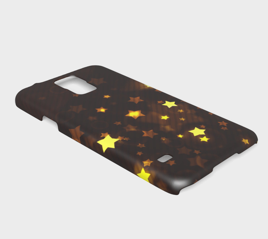 Glitter and Glow Sable Brown with Gold Stars preview #2